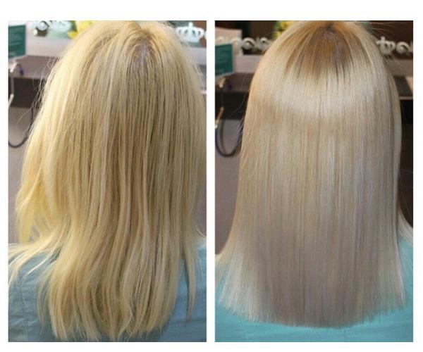 Нано-ботокс для волос в салоне красоты